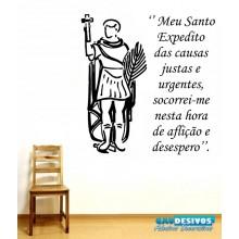 Adesivo Decorativo de Parede Frase Santo Expedito
