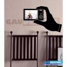 Adesivo Porta Retrato Mão Segurando Câmera (Para Fotos Até 15x22)