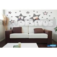 Adesivo Porta Retrato Kit 5 Estrelas (Para Fotos Até  16x23)