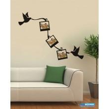 Adesivo Decorativo de Parede Porta Retrato com Pombos