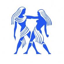 Adesivos de Parede de Signos Gêmeos na Cor Azul Médio
