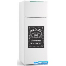 Adesivo Geladeira Whisky  (Fundo Preto)