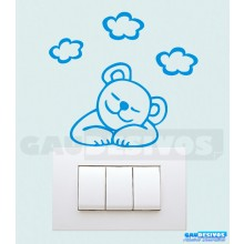 Adesivos de tomada urso