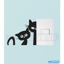 Adesivo de tomada gatos