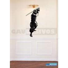 Adesivos de Anime Ninja com espada