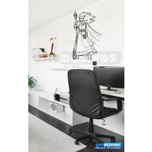 Adesivos de Anime ninja estilo rpg