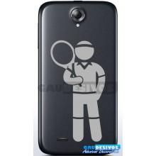 Kit Com 4 Adesivos Jogador De Tênis