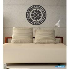 Adesivo Decorativo de Parede Mandala Estrelados
