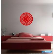 Adesivo Decorativo para Casa, de Parede, Quarto Mandala Cruz