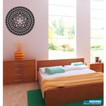 Adesivo Decorativo P/ Casa, Parede, Vidro Mandala Com Flores