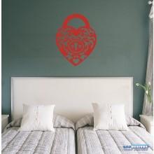 Adesivo Decorativo De Parede Mandala Em Coração