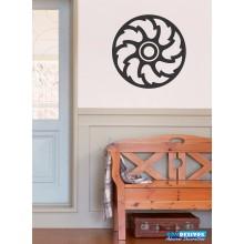 Adesivo De Parede Decorativo Mandala Espiral Horário