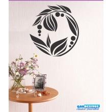 Adesivo De Parede Decorativo Mandala Planta Fruto
