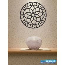 Adesivo Decorativo P/ Vidro/casa Mandala Flores Entrelaçados