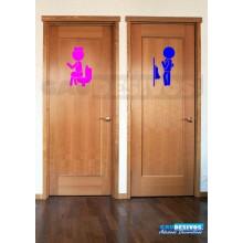 Adesivos de porta de banheiro Masculino e feminino
