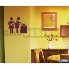 Adesivos Pictogramas Cozinha