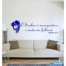 """Adesivo Decorativo de Parede Frase """"O Senhor é meu pastor..."""""""