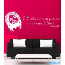 """Adesivo Decorativo de Parede Frase """"O Senhor é meu pastor..."""" 2"""