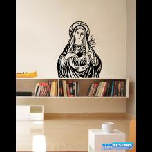 Adesivo Decorativo de Parede Religião Maria Mãe de Deus
