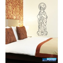 Adesivo Decorativo de Parede Frases Maria Mãe de Jesus