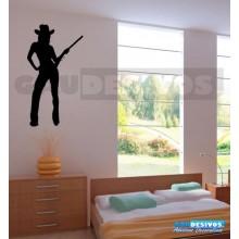 Silhueta Mulher Cowboy