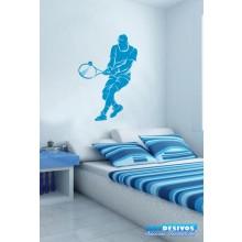 Adesivo Jogando Tênis