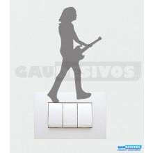 Adesivos Tomadas Tocando Guitarra