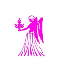 Adesivo Decorativo Signo Virgem na Cor Rosa Pink