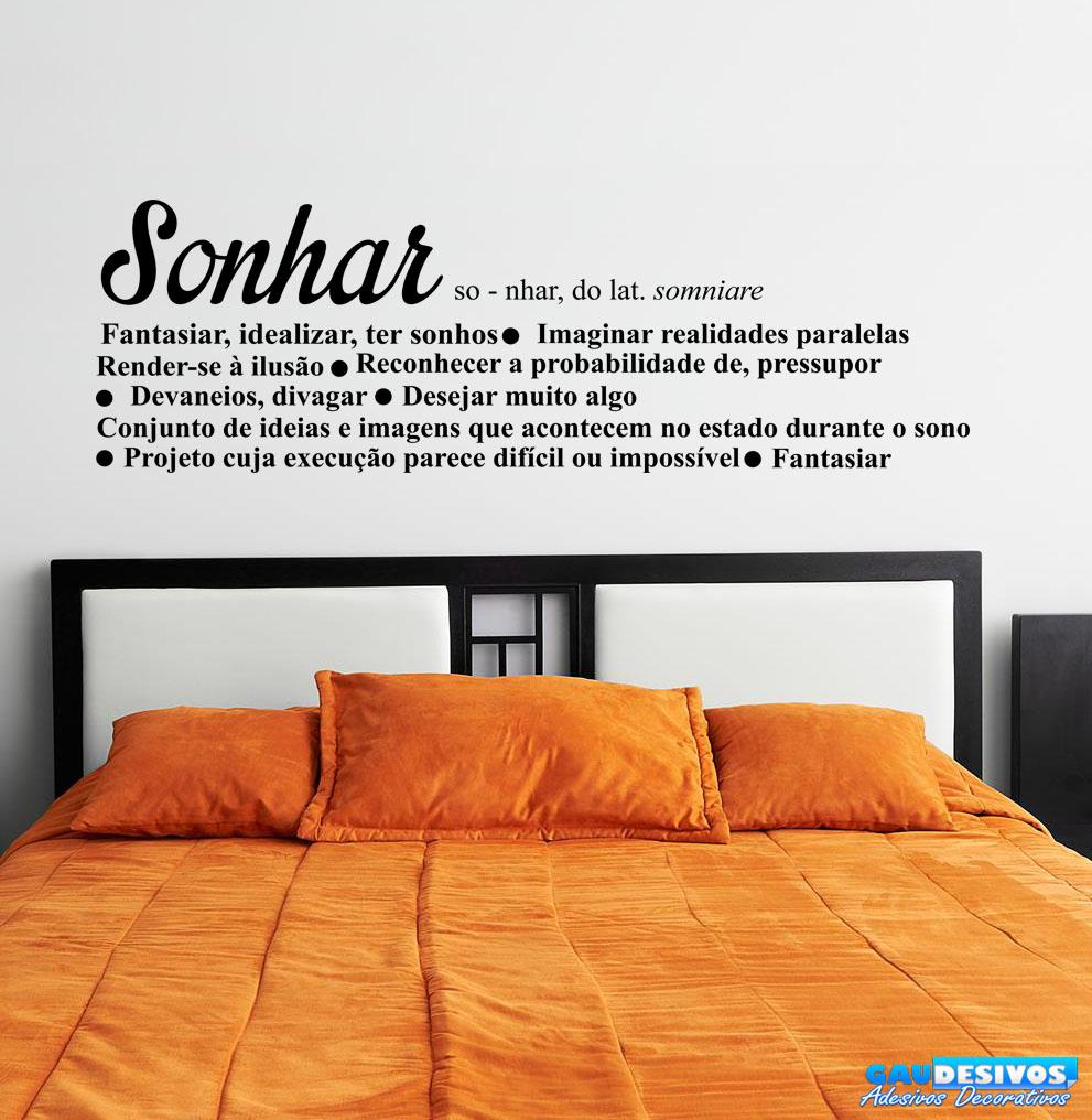 Adesivo Decorativo de Parede Frase Significado Sonhar  Frases -> Significado Sonhar Com Pia De Banheiro