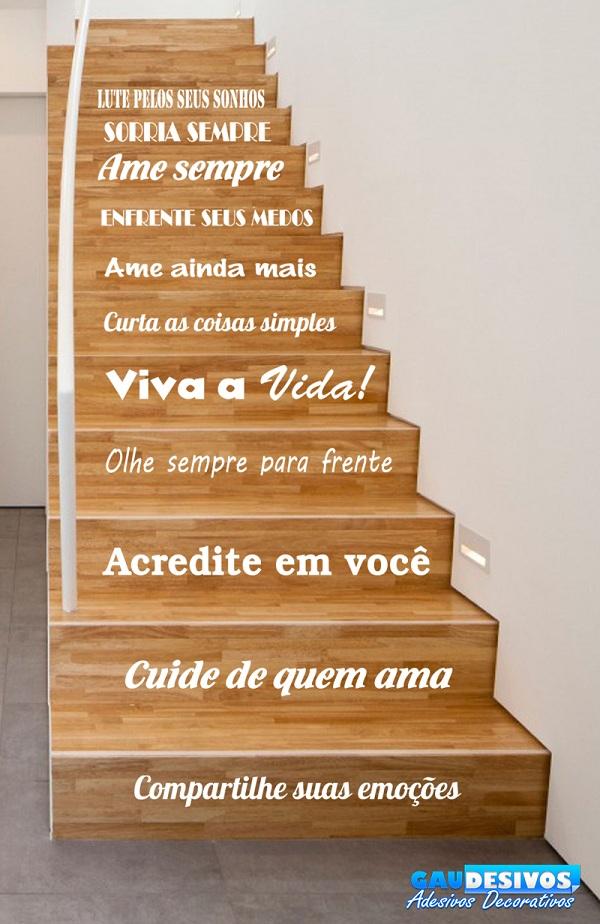 Adesivo Decorativo De Para Escada Ou Parede Frase Lute Pelos