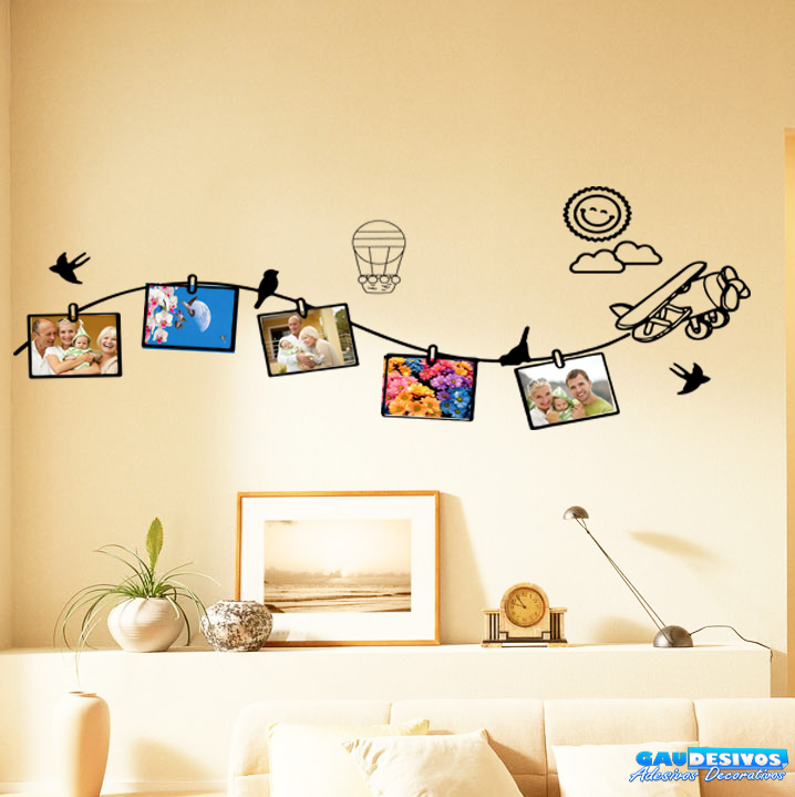 Adesivo De Parede Decorativo ~ Adesivo Decorativo de Parede Porta Retrato Brinquedos Porta Retrato
