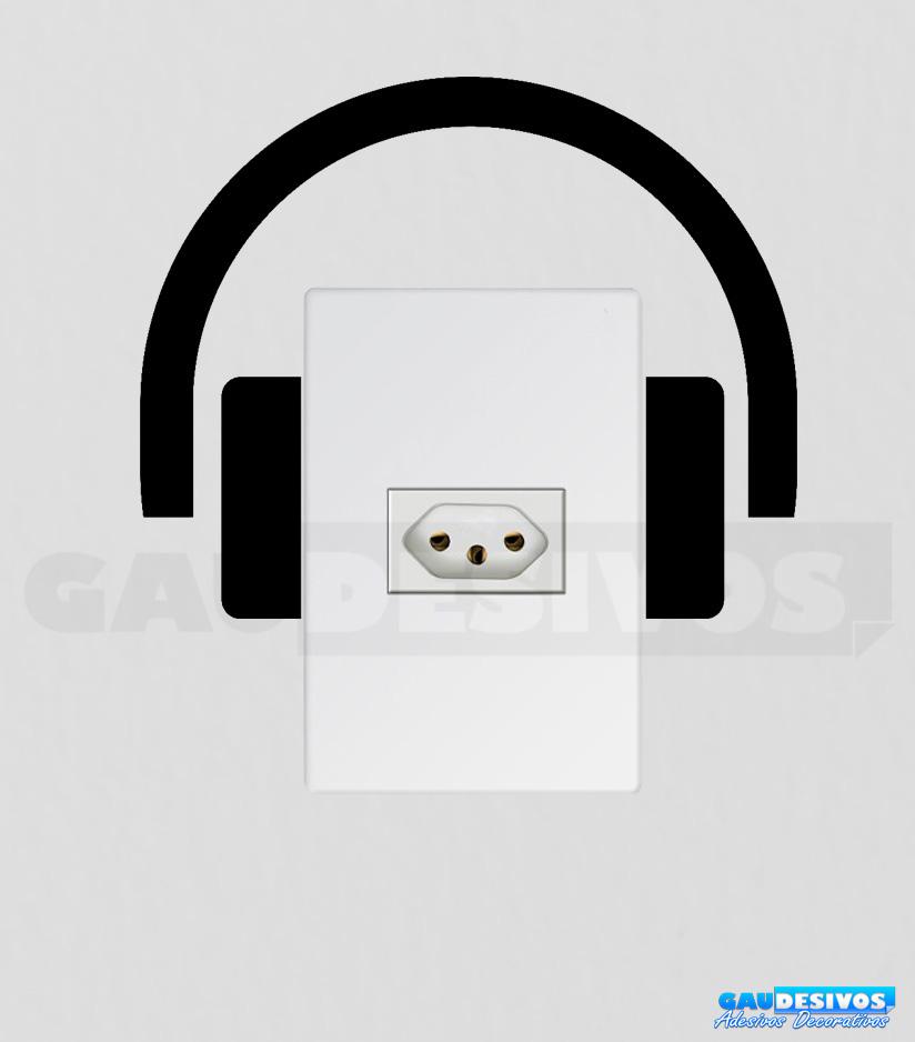 Adesivo De Parede Nuvens ~ Adesivos de tomada fone de ouvido Tomada Interruptor