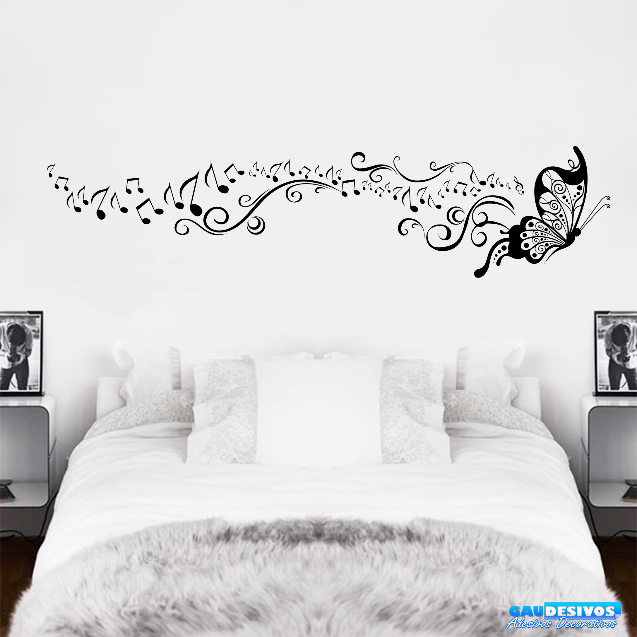 Armario Ikea Pax Roble ~ Adesivo Decorativo de Parede Borboleta Nota Musical